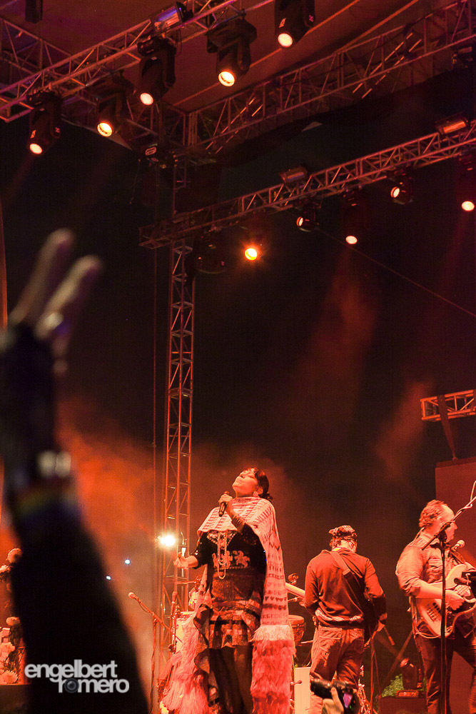 Lila Downs at the Historic Centre Festival at Zocalo, March 2014