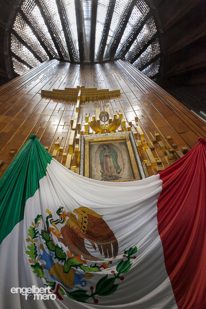 Image of the Virgin of Guadalupe in the new basilica