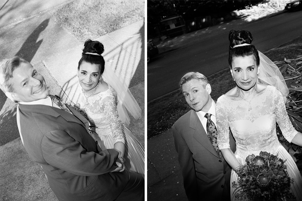 Wedding Couple Black and White
